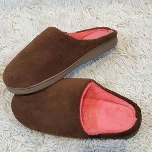 Plush Memory Foam Slippers Size 11 sides indoor